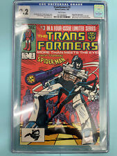 Transformers 3 Marvel Comics 1985 CGC 9.2 Spiderman Appearance White Pages