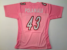 Troy Polamalu UNSIGNED CUSTOM Pink Jersey - M