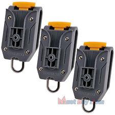 Universal Measuring Tool Tape Measure Holder Carpenter Work Pants Belt Clip 3pcs
