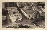 CASABLANCA Africa CPA um 1930 Fliegeraufnahme Postcard Avenue General avion