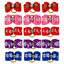 50pcs Dog Bows for Small Dogs Hair With Rubber Bands Bowknot Accessory Maltese