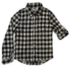 Epic Threads Girls Black/White Buffalo Check Button Soft Blouse/Shirt Sz S