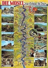 BG10978 die mosel von koblenz bis trier map cartes geographiques  germany