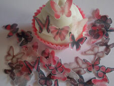 96 **PRECUT** Mini Pink Mix Edible Butterflies cake/cupcake/cake pop toppers
