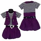 Girls PARTY Summer Dress, Shrug/ Jacket&Belt 3 Piece Set Waistcoat 3-12 yrs #30