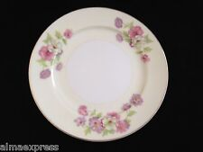 Rare GHB Japan Fine China Purple Pink Flowers Gold BREAD PLATE