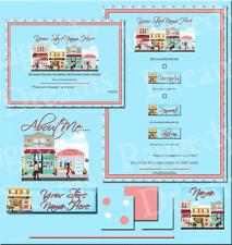 Pink & Blue Polka Dot Boutique Street Shops COMPLETE EBAY STORE DESIGN