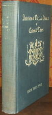 Interiors of Virginia Houses of Colonial Times. by E.T. Sales - SIGNED 1st 1927