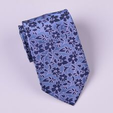 Blue Hawaiian Hibiscus Floral Tie Mens 8cm Standard Classic Necktie Accessory GQ