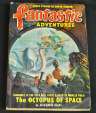 Fantastic Adventures Volume 11 #10 The Octopus Of Space By Alexander Blade Fine-