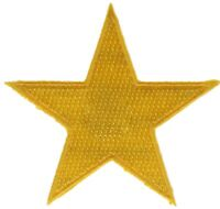 US Army Gold Star 2.5 Inch Cap Hat Embroidered Patch F2D1C