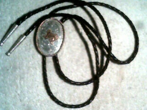 Vintage Pat. Pend. Montana Silversmith's Western Gold & Silver Bolo Texas state