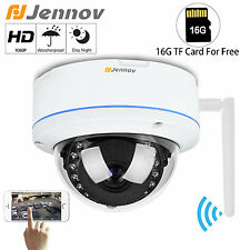 Wireless HD 1080P 2.0MP Onvif Dome Outdoor Night Network Security IP Camera 16G