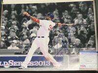 David Ortiz Autographed 11x14 Photo Boston Red Sox PSA/DNA