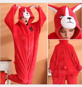 2021 New Unisex Adult Dog Kigurumi Pajamas Animal Cosplay Costume Sleepwear