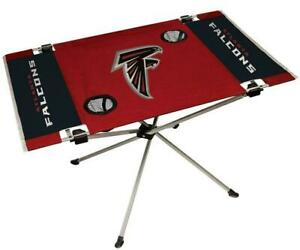 Atlanta Falcons Endzone Tailgate Table [NEW] NFL Portable Chair Fold Party