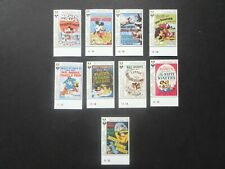 Set of Disney Mickey Mouse movie poster stamps inc $1 train (SG 1866-74) UMM