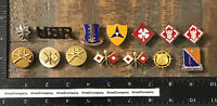 Lot Of 15 Vintage US Army DI Crest Pins Airborne Infantry Engineers Signal Corps