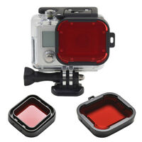 Underwater Sea Diving Snap on Red Lens Filter for Go Pro Hero 3+4 HousingCaseSKU