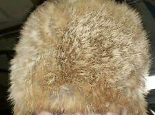 Genuine Brown Leather Fur Trapper Hat Men Women Winter Warm Ski Cap Size Medium