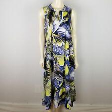 Chaus New York sleeveless colorful polyester maxi dress size M