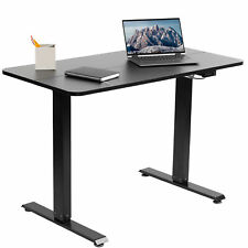 "VIVO Black Electric 44""x 24"" Sit Stand Desk, Height Adjustable Workstation"