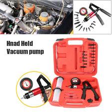 Dual Use Hand Held Vacuum Pressure Pump Tester Tool Brake Bleeder Kit Adapters