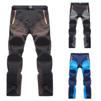 Funcional Hombre Softshell Camping Pantalones Militares Combate de Senderismo