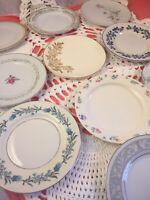 10 - Vintage Mismatched China Dessert Plates Wedding Shabby Shower Colorful #86