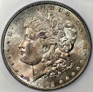 1902 O MORGAN DOLLAR SILVER COIN ICG MS66 TONED CHOICE GEM BU UNC