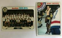 1978-79 Topps Boston Bruins Complete Team Set - (19) Cards - Gerry Cheevers