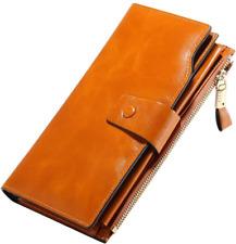 Starhide RFID Blocco vera morbida pelle borsa portafoglio donna regalo rosso nero 5560