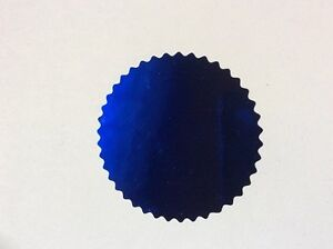 30 Metalic Blue Plain Foil Seal, Stickers Ideal for Certificates