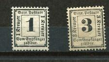 Germany Bayern 1870 Mi 2-3x Sc J2-3 Unused Ger 1124