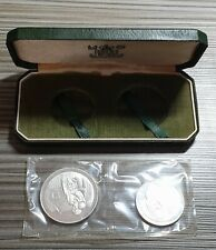 CYPRUS 1976 1 POUND AND 500 MILS SILVER PROOF IN CASE REFUGEES SEALED ROYAL MINT