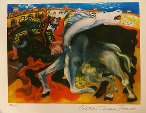 PICASSO Giclee Litho BULL FIGHT, DEATH OF A TOREADOR Signed Ltd Ed 133/500, COA