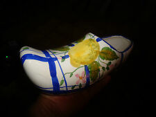 Sabot en Faïence au Décor de Citron A pendre pour Brosse ou Pot de Fleur Cactus