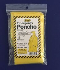 Lot of 50 Emergency Hooded Poncho - Yellow