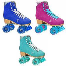 Roller Derby Candi Girl U774 Carlin Quad Artistic Roller Skates Seafoam Ladies 5