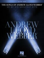 The Songs of Andrew Lloyd Webber Alto Sax Instrumental Solo Book New 000102648