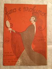 SPARTITO MUSICALE FUMO E PROFUMO C.A. BIXIO B. CHERUBINI 1926 MANDOLINO