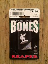 Reaper, Bones, Dark Heaven miniature: Balto Burroweil, Gnome Wizard