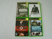 Microsoft XBOX Lot - Ghost Recon, Hitman 2, Ghost Recon Island Thunder, Stacked