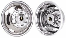 "16"" 10 lug 4 hole  Ford f53 f450 Wheel simulators Rv truck stainless steel new"