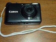 """Canon Powershot A2200 14.1MP Digital Camera with 4x Optical Zoom (Black) """"AS-IS"""""""
