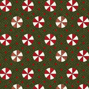 BTHY Maywood Snowdays Green Peppermint Holiday Christmas Flannel Fabric 9936-G