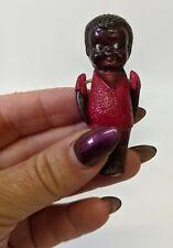 "Vintage Antique Celluloid Black 2-1/2"" Kewpie Cupie Penny Doll Figure"