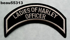 "HARLEY OWNERS GROUP HOG ""LADIES of HARLEY"" LOH CHAPTER OFFICERS VEST PATCH"