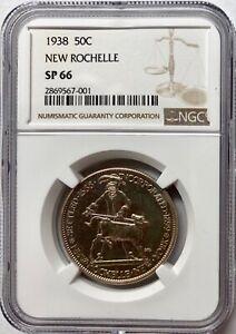 1938 New Rochelle New York Commemorative Half Dollar NGC SP 66