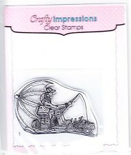 FISHERMAN - Mini Clear Stamp - Crafty Impressions